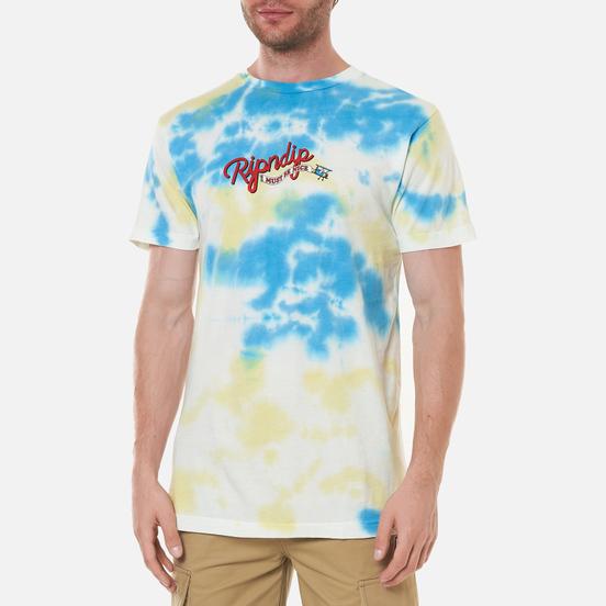 Мужская футболка RIPNDIP Raise Da Hell Yellow/Blue Acid Wash