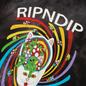 Мужская футболка RIPNDIP Touch Of Psych Black/Lavender фото - 2