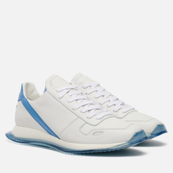 Мужские кроссовки Rick Owens Performa Runner Lace Up Chalk White/Nubuk Blue/White/Nubuk Blue Transparent