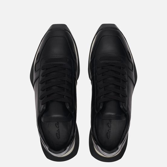 Мужские кроссовки Rick Owens Performa Runner Lace Up Black/Black/Black/Black/White/Black