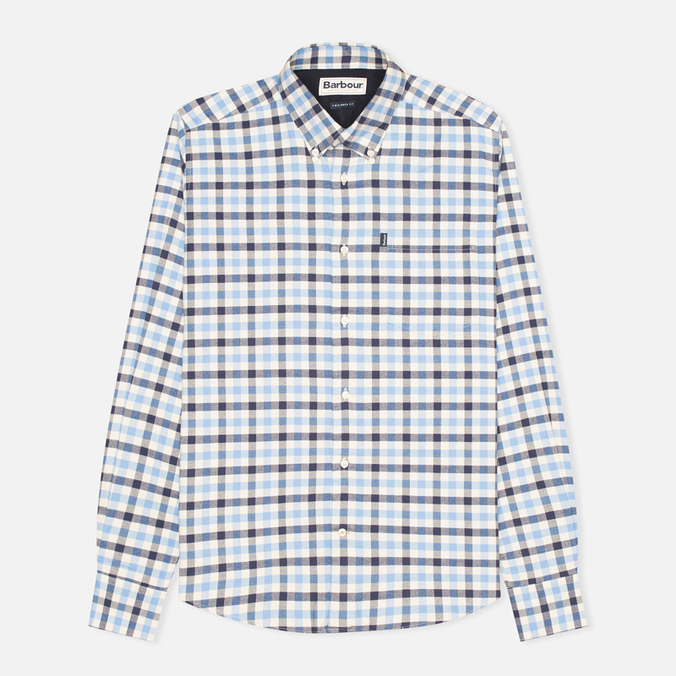 Barbour Moss Men's Shirt Sea Blue