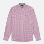 Fred Perry Classic Gingham Men's Shirt Mahogany photo- 0
