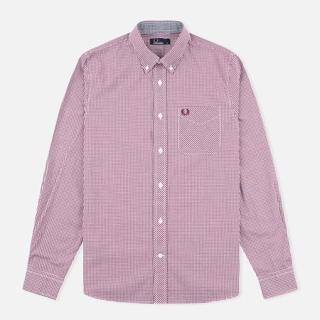 Мужская рубашка Fred Perry Classic Gingham Mahogany
