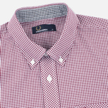Fred Perry Classic Gingham Men's Shirt Mahogany photo- 1