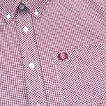 Fred Perry Classic Gingham Men's Shirt Mahogany photo- 2