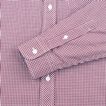 Fred Perry Classic Gingham Men's Shirt Mahogany photo- 3