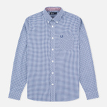 Мужская рубашка Fred Perry Classic Gingham Medieval Blue фото- 0