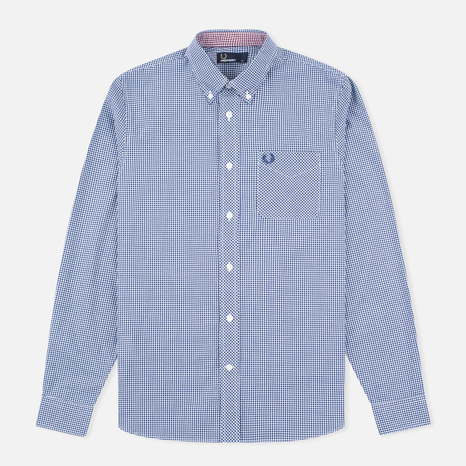 Мужская рубашка Fred Perry Classic Gingham Medieval Blue