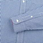 Мужская рубашка Fred Perry Classic Gingham Medieval Blue фото- 3