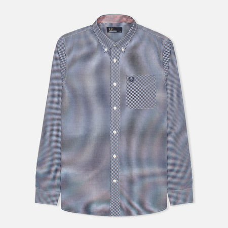 Fred Perry Classic Gingham Men's Shirt Medieval Blue