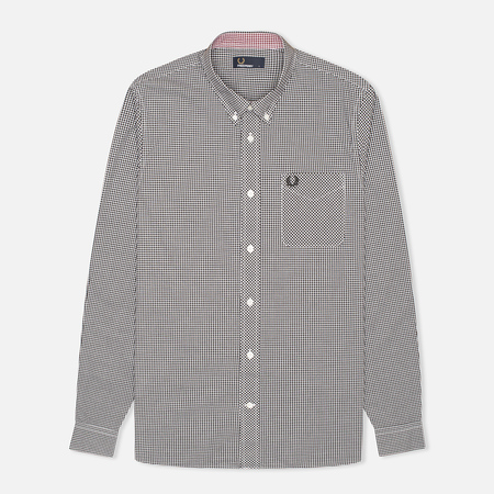 Fred Perry Classic Gingham Men's Shirt Black