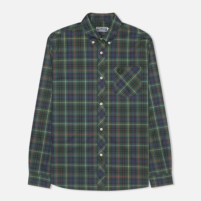 Мужская рубашка Fred Perry Laurel Tartan Green
