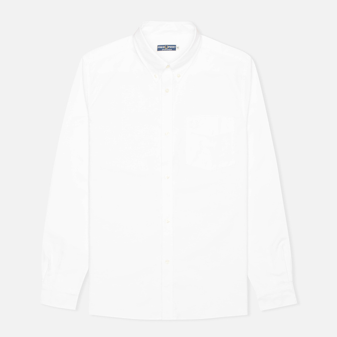 Мужская рубашка Fred Perry Heavy Oxford White