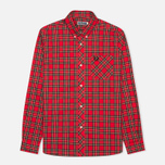 Fred Perry Laurel Tartan Men's Shirt Red photo- 0