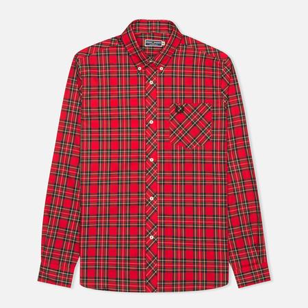 Fred Perry Laurel Tartan Men's Shirt Red
