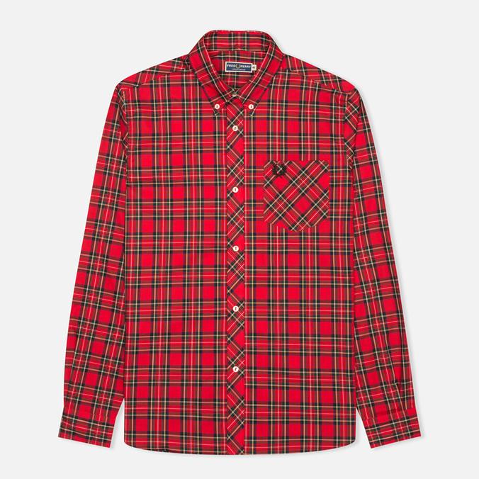 Мужская рубашка Fred Perry Laurel Tartan Red