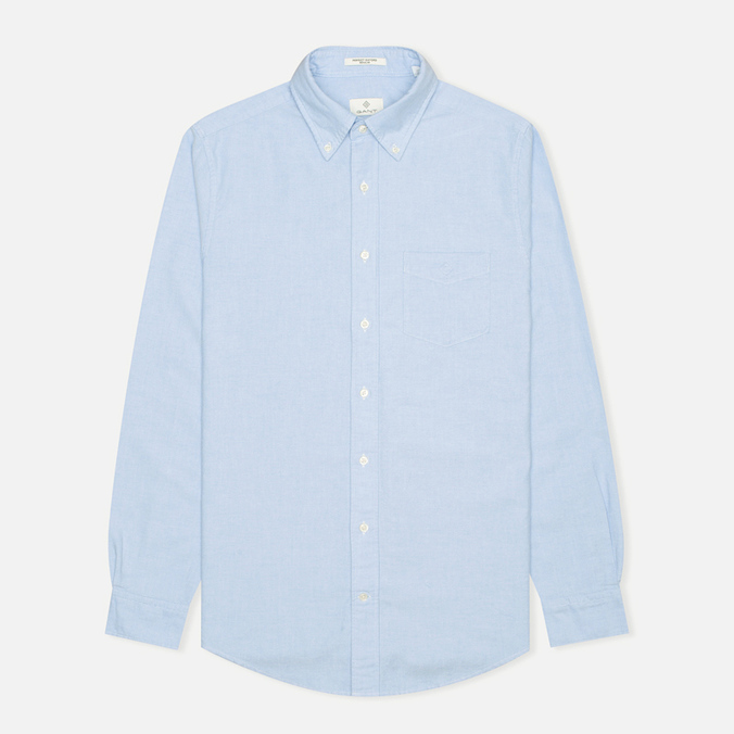 Мужская рубашка Gant Diamond G The Perfect Oxford LS BD Capri Blue