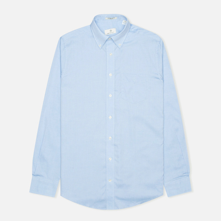 Мужская рубашка Gant Diamond G The Pin Point Oxford LS BD Capri Blue