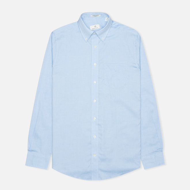 Мужская рубашка Gant The Pin Point Oxford LS BD Capri Blue