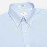 Gant Diamond G The Pinpoint Oxford LS BD Men's Shirt Capri Blue photo- 1