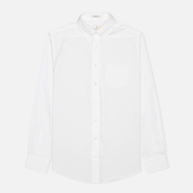 Мужская рубашка Gant The Pin Point Oxford LS BD White