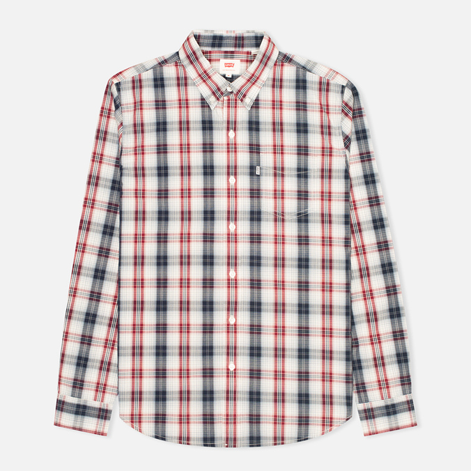 Мужская рубашка Levi's One Pocket Navy/Red Plaid
