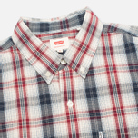 Мужская рубашка Levi's One Pocket Navy/Red Plaid фото- 1