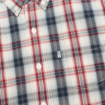 Мужская рубашка Levi's One Pocket Navy/Red Plaid фото- 2