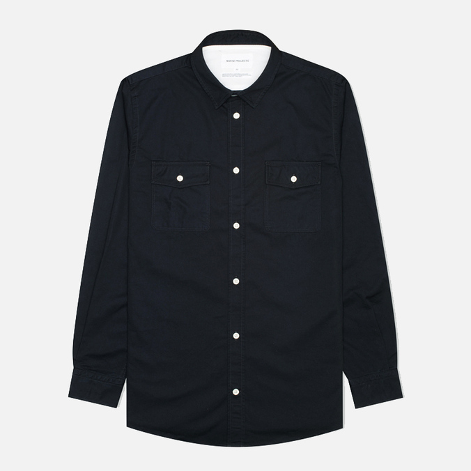 Мужская рубашка Norse Projects Villads Dark Navy