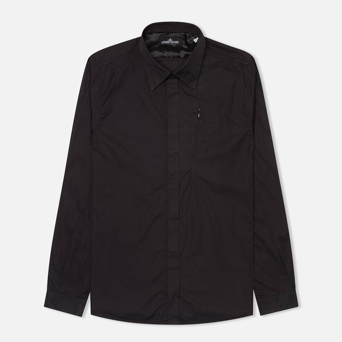 Мужская рубашка Stone Island Shadow Project L/S Black
