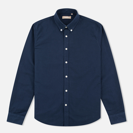 Velour Мужская рубашка Common Brushed Oxford Navy