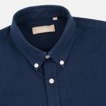 Velour Common Brushed Oxford Men's Shirt Navy/Navy photo- 1