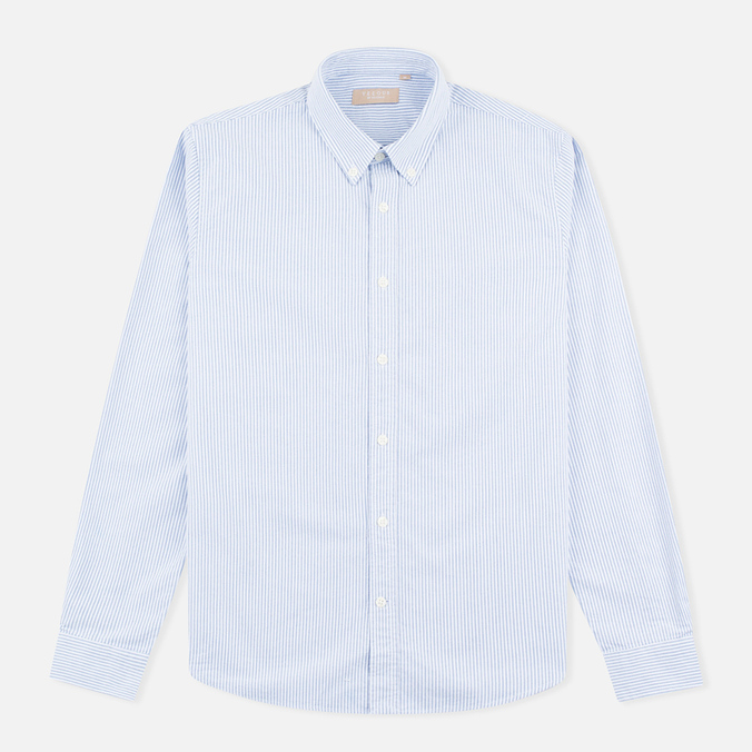 Мужская рубашка Velour Common Oxford Brushed Stripe Blue/Off White