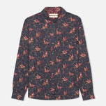 Brabour Fell Women's Shirt Navy Bird Print photo- 0
