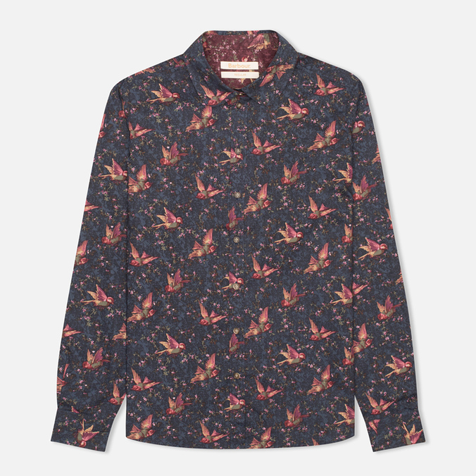Brabour Fell Women's Shirt Navy Bird Print