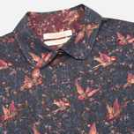 Brabour Fell Women's Shirt Navy Bird Print photo- 1
