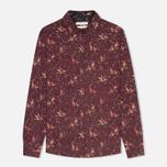Женская рубашка Barbour Fell Wine Bird Print фото- 0