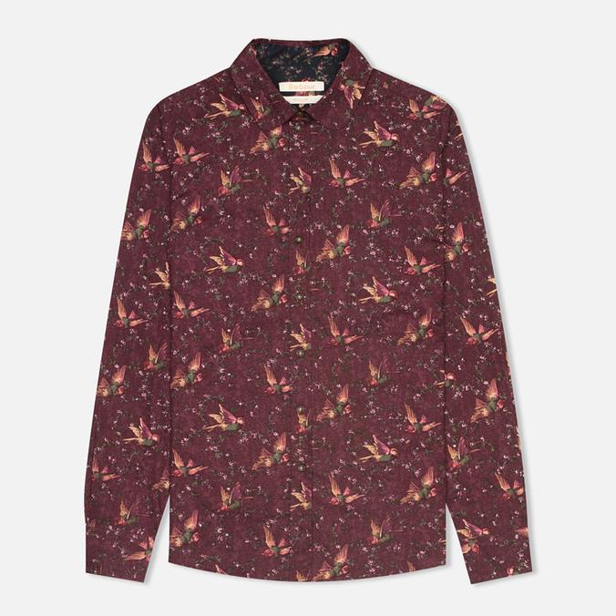Barbour Fell Women's Shirt Wine Bird Print
