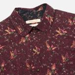 Barbour Fell Women's Shirt Wine Bird Print photo- 1