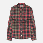 Fred Perry Laurel Button Down Tartan Women's Shirt Black photo- 0