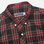 Fred Perry Laurel Button Down Tartan Women's Shirt Black photo- 1
