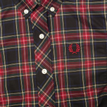Fred Perry Laurel Button Down Tartan Women's Shirt Black photo- 2