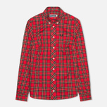 Женская рубашка Fred Perry Button Down Tartan Red фото- 0