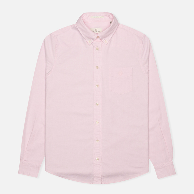 Gant Diamond G The Perfect Oxford Women's Shirt Pastel Pink