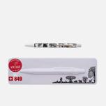 Caran d'Ache 849 Office Essentialy Swiss Cut Up Paper Pen Silver photo- 0