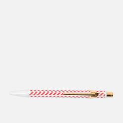 Ручка Caran d'Ache Office 849 Season`s Greetings 2018 Chevron White/Red