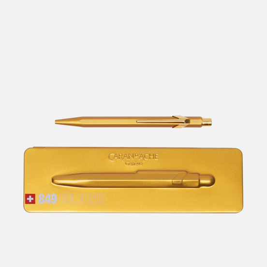 Ручка Caran d'Ache 849 Goldbar Metallic
