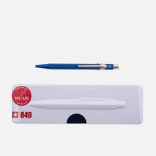 Ручка Caran d'Ache 849 Popline Metallic Blue фото- 0