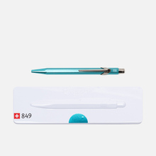Ручка Caran d'Ache 849 Popline Metallic Turquoise фото- 3
