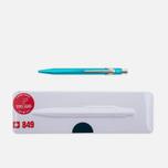 Ручка Caran d'Ache 849 Popline Metallic Turquoise фото- 0